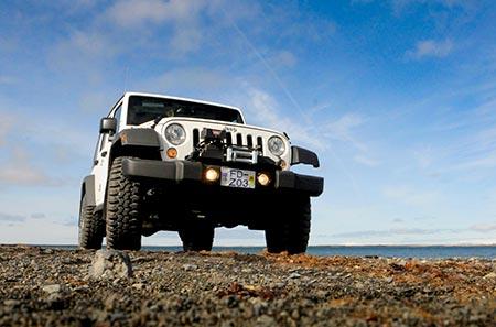 Island Reisen Ansicht Jeep Super Camper