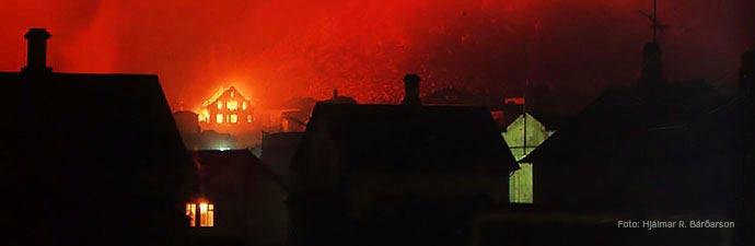 Vulkanausbruch des Helgafell 1973