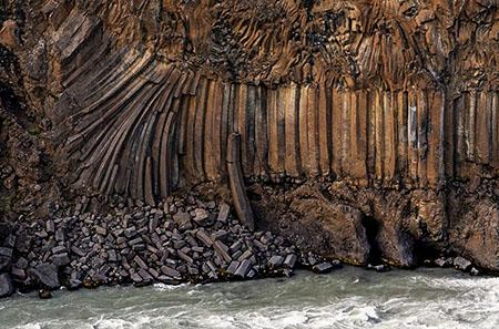 Basaltformationen am Aldeyjarfoss