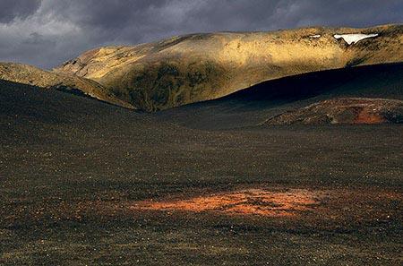 Vulkan Askja  in der Landschaft