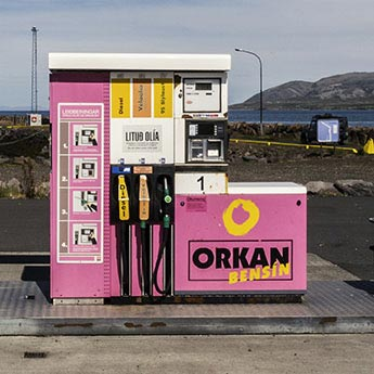 Orkan-Tankstelle auf Island