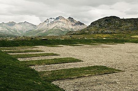 Der Hügel Álfaborg in Bakkagerð