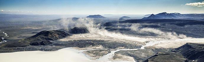Sandsturm über dem isländischen Hochland