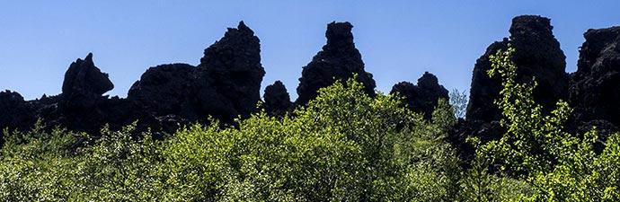 die skyline von Dimmuborgir