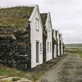 Hausgiebel im Museum Grenjaðarstaður