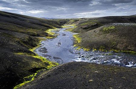 Fluss bei Hrafntinnusker