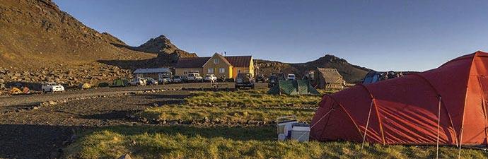 Campingpaltz an den Kverkfjöll