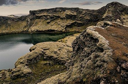 Kratersee in den Lakagígar