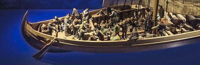 Landnahmezentrum Modell eines Wikingerschiffes