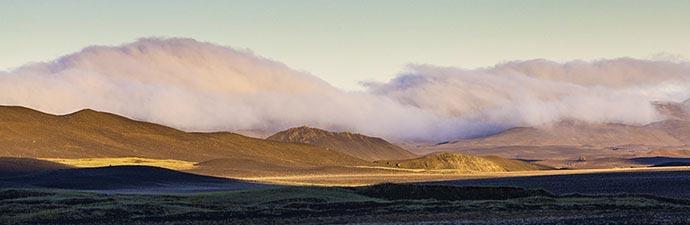 Wolkenformation über Möðrudalur