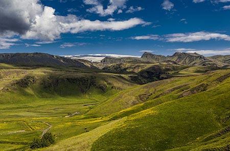 Blick von Süden auf den Mýrdalsjökull