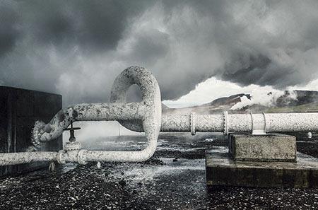 Das Kraftwerk Bjarnaflag am Námafjall