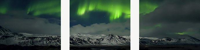 Bilderserie Polarlichter
