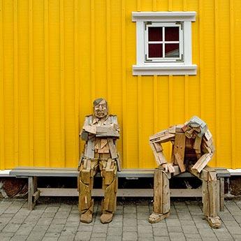 Kunstwerk im Hafen von Siglufjörður