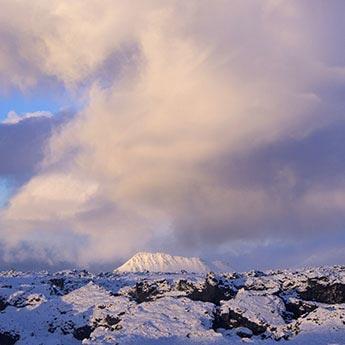 Winterlandschaft auf der Halbinsel Snæfellsness