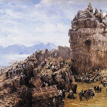 Þingvellir: Gemälde von W. G. Collingwood