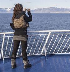 Island fotografieren von Bord der Autofähre Norröna