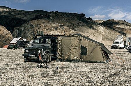 Campingplatz an der Askja im Vatnajökull-Nationalpark
