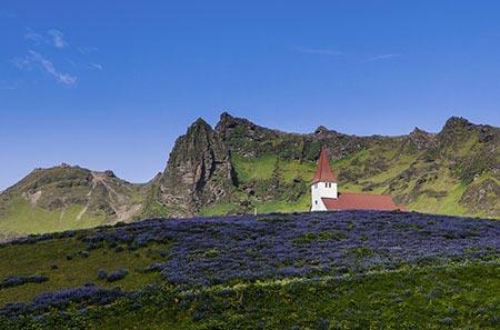 Kirche von Vík í Mýrdal