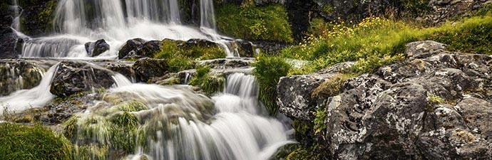 kleiner Wasserfall beim Dynjandi