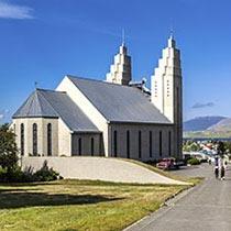 Akureyrarkirkja in Akureyri