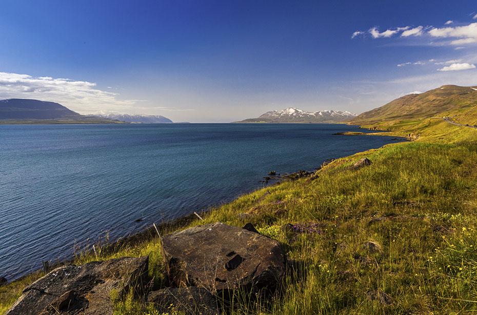 Blick auf den Eyjafjörður