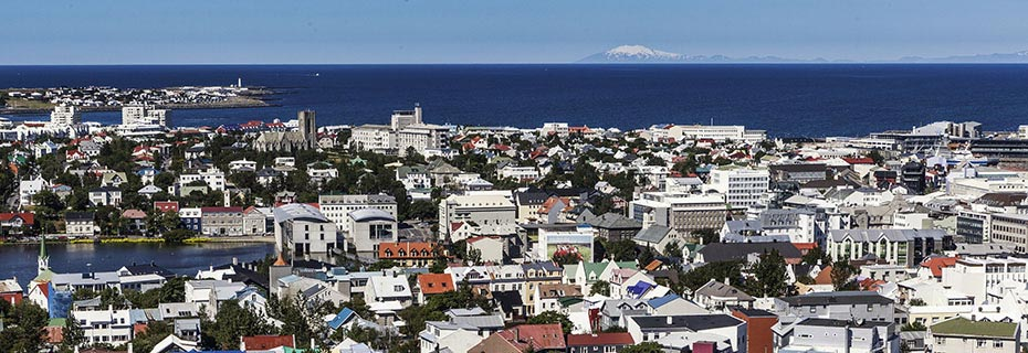 Reykjavík & Golden Circle: Blick auf Reykjavik