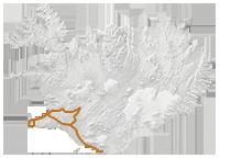 Neujahr & Polarlichter: Islandkarte