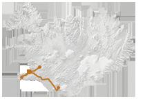 Reykjavík & Natur intensiv: Islandkarte