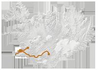 Reykjavík, Silfra & Vulkane: Islandkarte