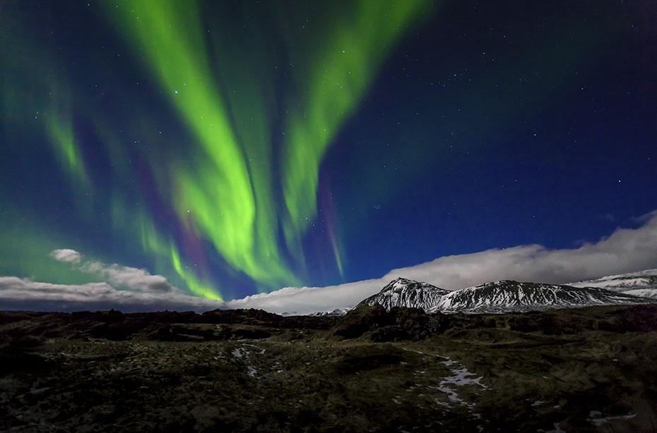 Polarlicht-Expedition Island: Snæfellsnes