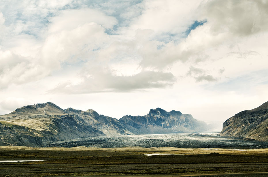 Gletscherzunge am Südrand des Vatnajökull