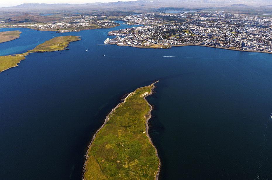 Ansicht von Reykjavík aus der Luft