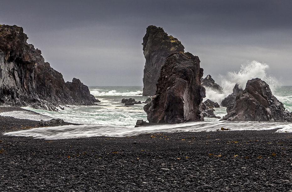 Islandreisen Strand von Djúpalónssandur