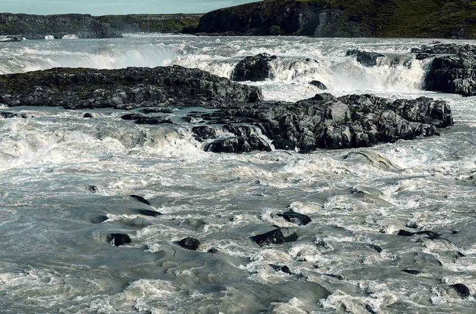 Der Wasserfall Urriðafoss