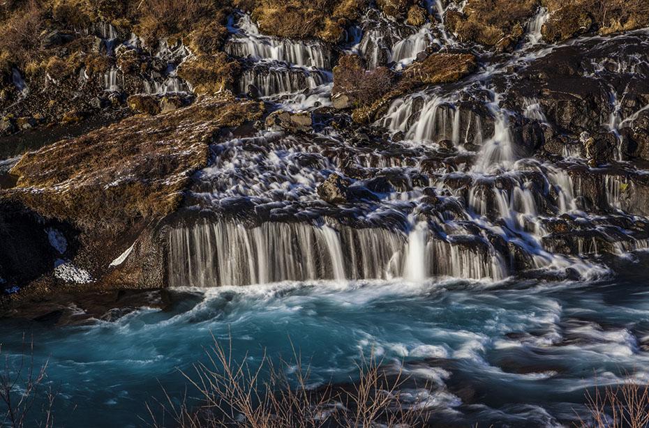 Super Jeep Winter-Tour: Hraunfossar im Winter