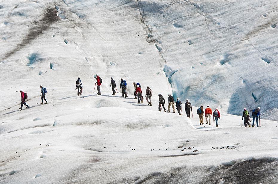 Island Islandreisen Gletscherwanderung