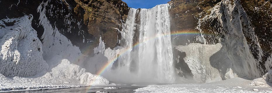 Winterabenteuer auf Island: Skogafoss