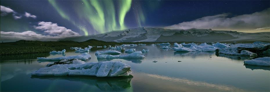 Polarlicht-Expedition Island