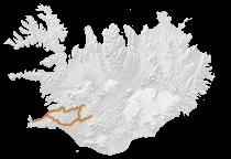 Reiten unter Polarlichtern Islandkarte
