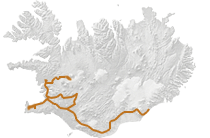 Winterabenteuer auf Island: Islandkarte