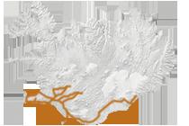 Islands wunderbarer Süden 2017: Islandkarte