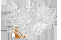 Wandern wie die Wikinger: Islandkarte