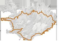 Island-Rundreise in 10 Tagen: Islandkarte