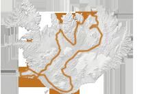 Super Hochland Tour 2016: Islandkarte