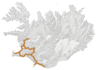Island Karte Süden Reiseroute