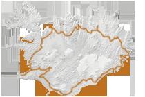 Preiswert Island in 8 Tagen: Islandkarte