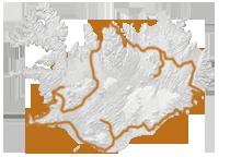 Island Karte Reiseroute