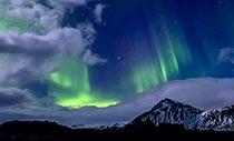 Island Islandreise Polarlichter über Island