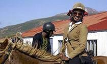 Reiten im Mittsommer Reiter
